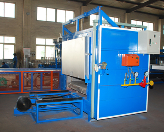 Mould preheating furnace