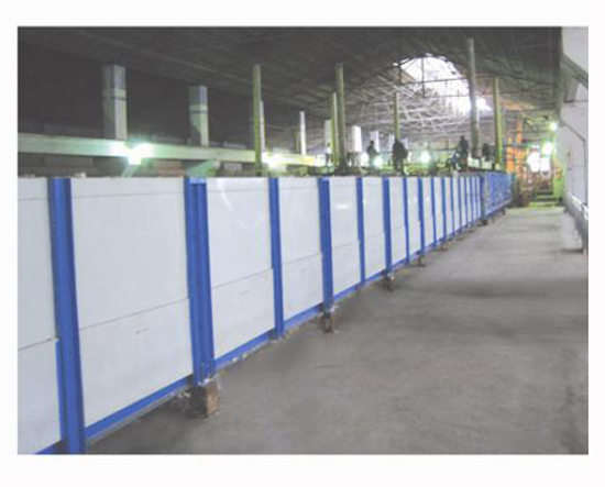 Plate profile and lighting glass annealing furnace